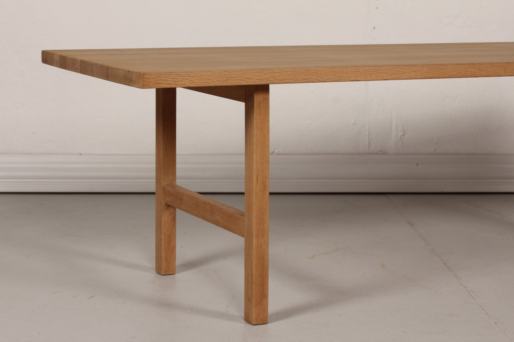 Vintage Danish Oak Long And Low Coffee Table, 1970s