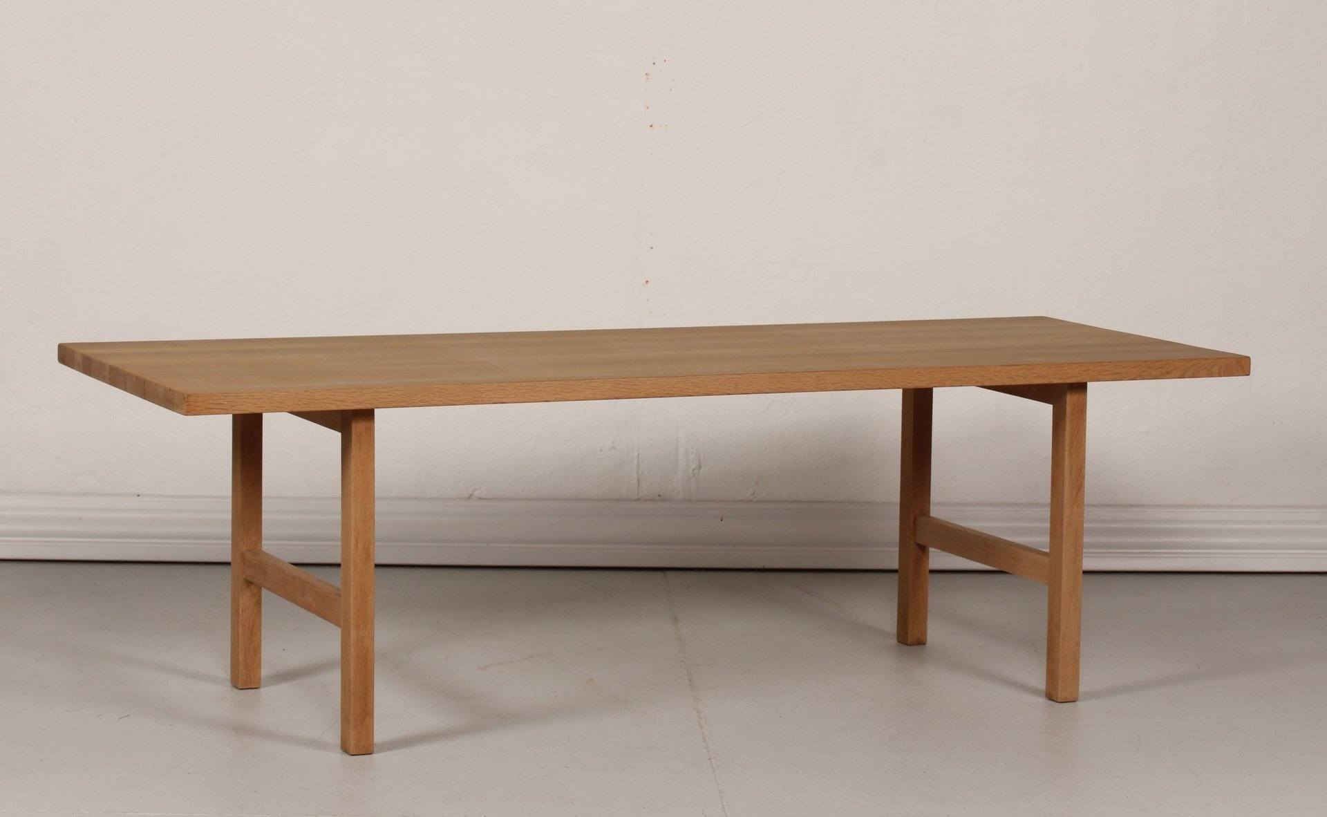 Vintage Danish Oak Long And Low Coffee Table 1970s