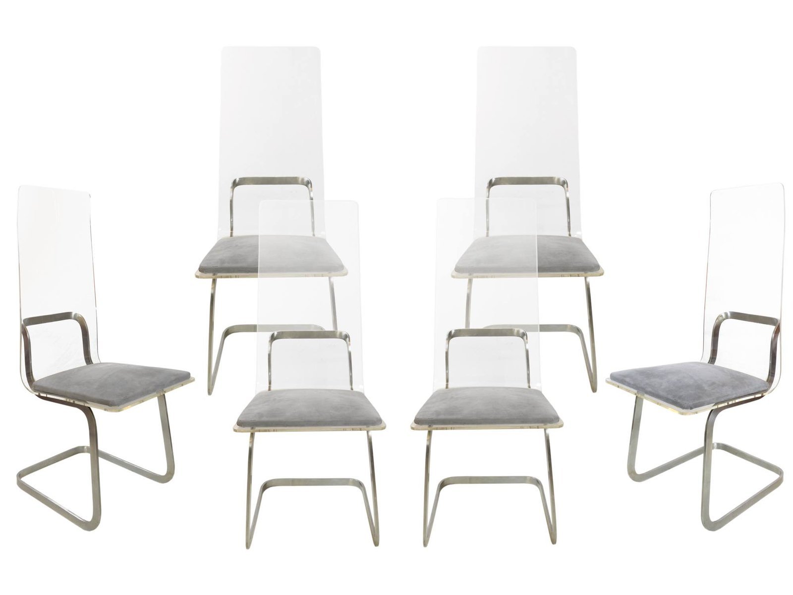 Metal U0026 Plexiglass Chairs By Gary Gutterman, 1970s, Set Of 6 For Sale At  Pamono