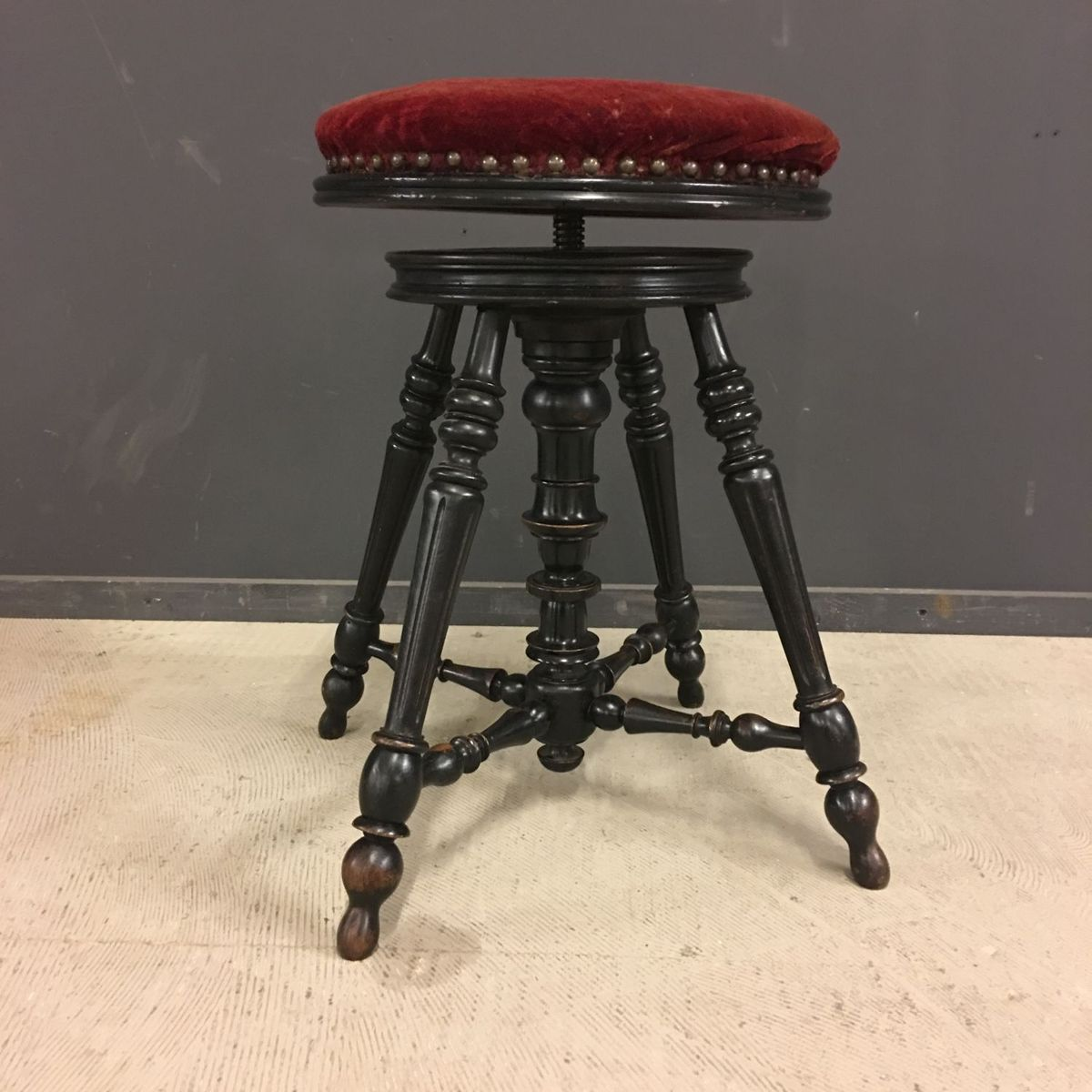 french napoleon iii piano stool 1850s for sale at pamono. Black Bedroom Furniture Sets. Home Design Ideas