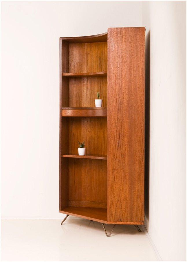 vintage teak eck b cherregal von g plan 1960er bei pamono kaufen. Black Bedroom Furniture Sets. Home Design Ideas