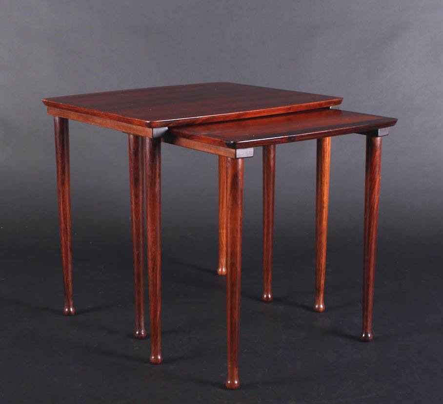 Beautiful Danish Rosewood Nesting Tables From Møbelintarsia, 1960s For Sale At Pamono