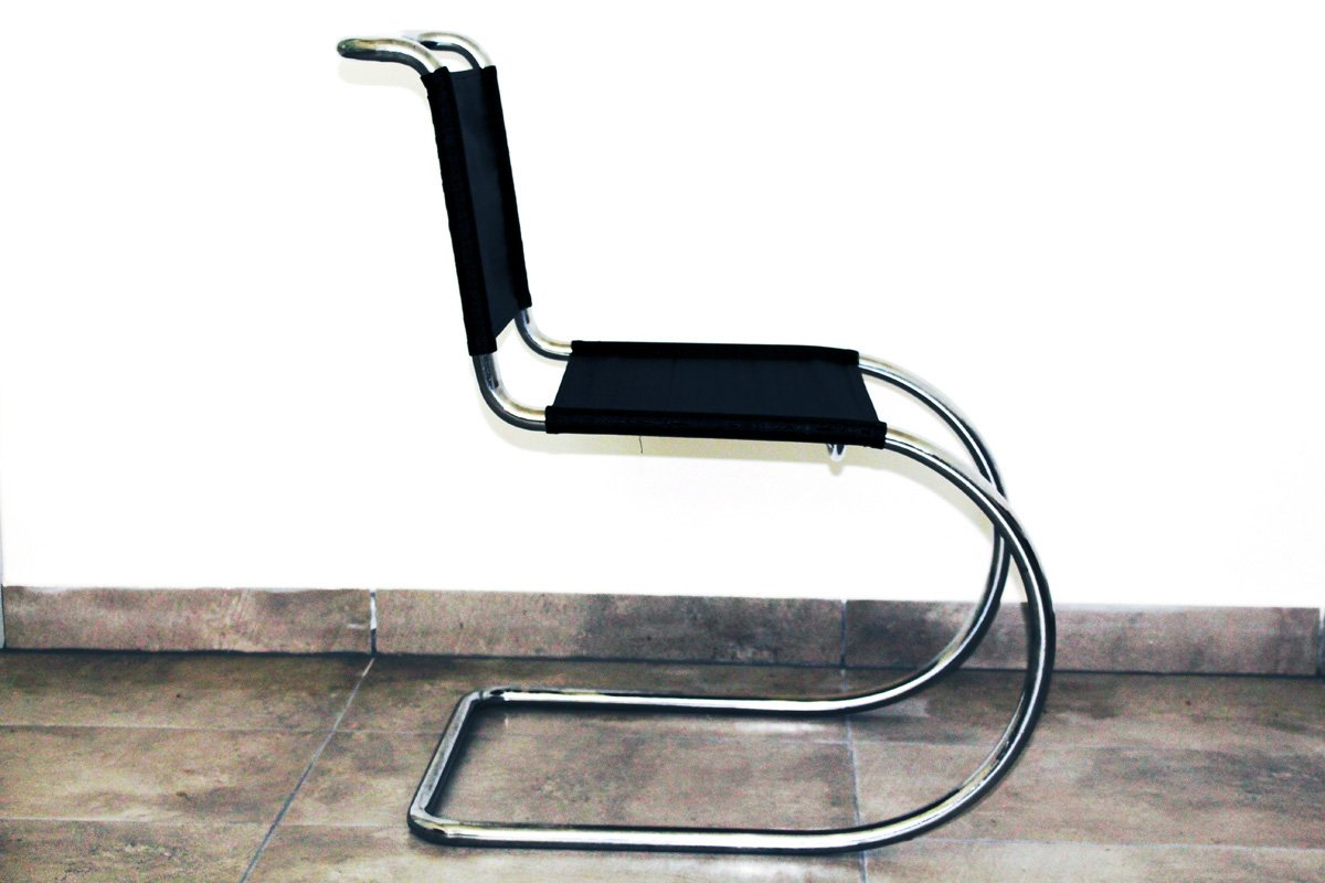 chairs cantilever pin mies ludwig chair rohe van mr der