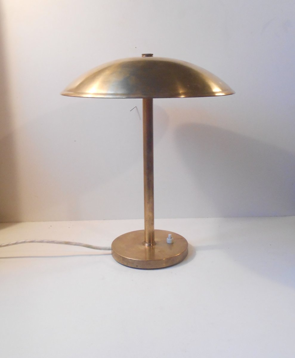 Superb Art Deco Brass Desk Lamp By Lyfa Denmark, 1930s