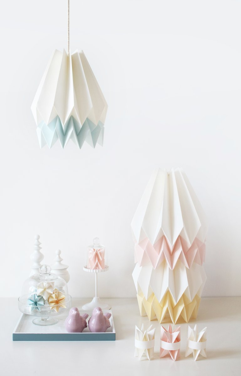 Pink yellow origami lampshade by orikomi for sale at pamono aloadofball Images