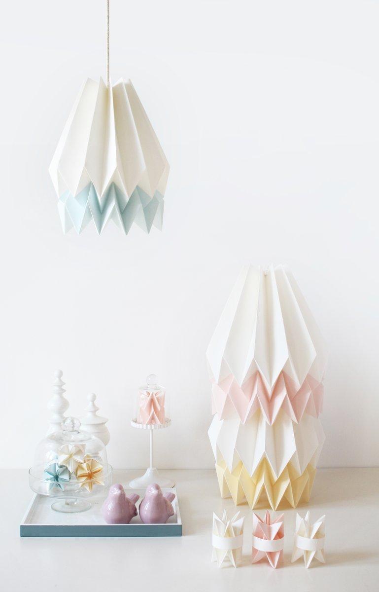 Origami Lampenschirm in Rosa & Weiß von Orikomi bei Pamono kaufen