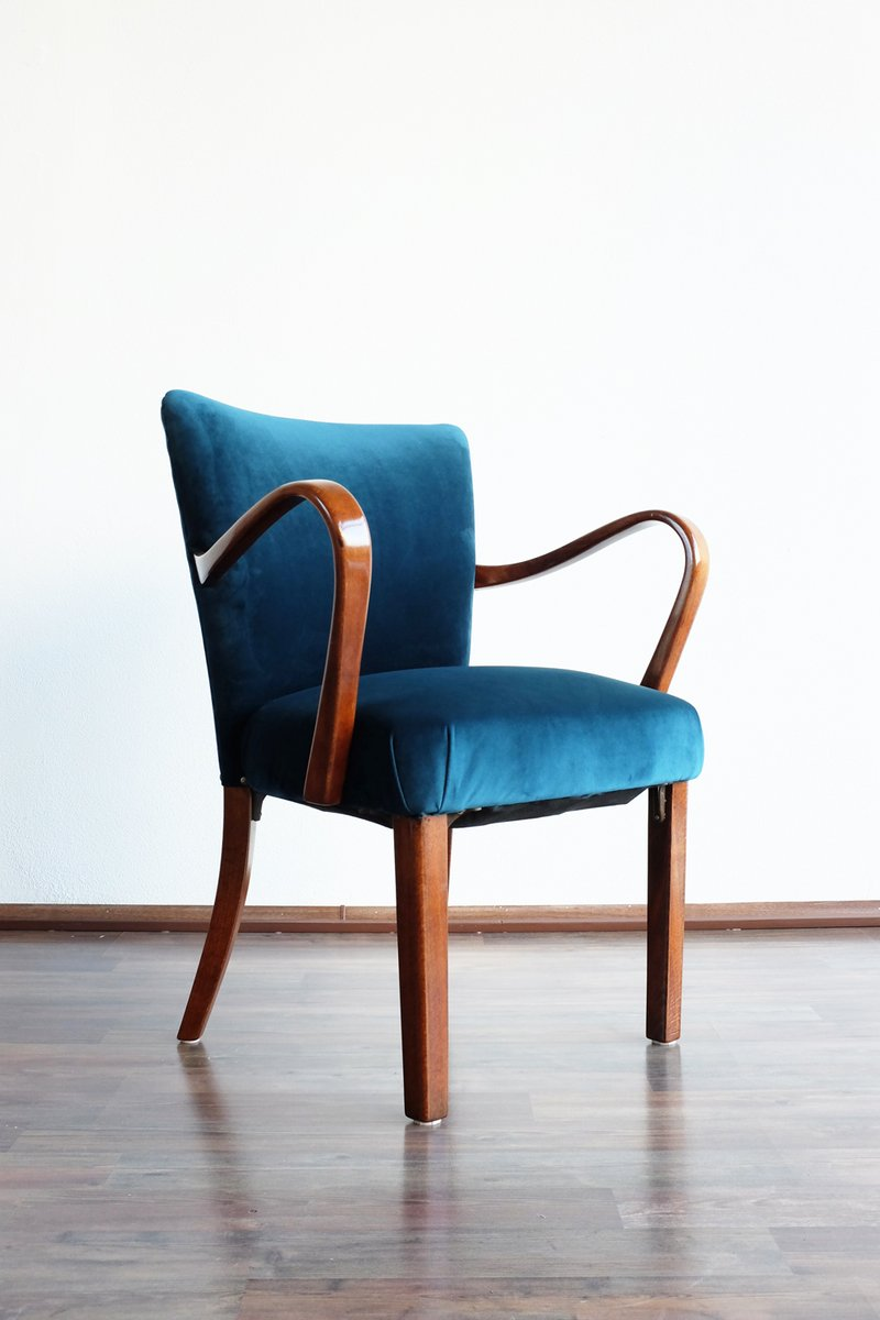 Armchair In Velvet From Thonet 1930s For Sale At Pamono