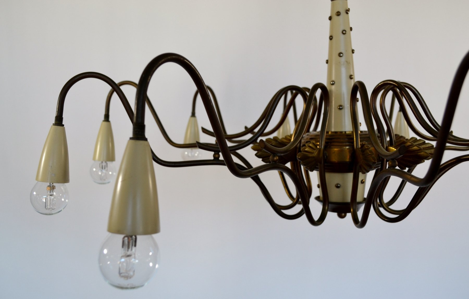italienischer mid century messing spider kronleuchter von. Black Bedroom Furniture Sets. Home Design Ideas