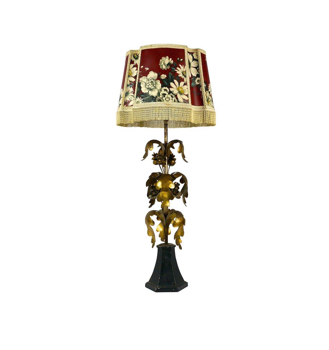 Lampe de bureau hollywood regency vintage dor e en vente - Lampe de bureau style anglais ...
