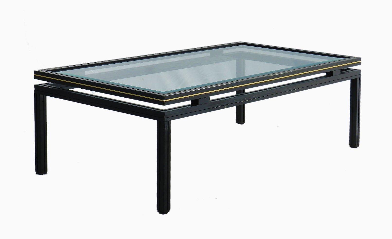 Table Basse Vintage en Laiton & Chrome par Pierre Vandel en vente ...