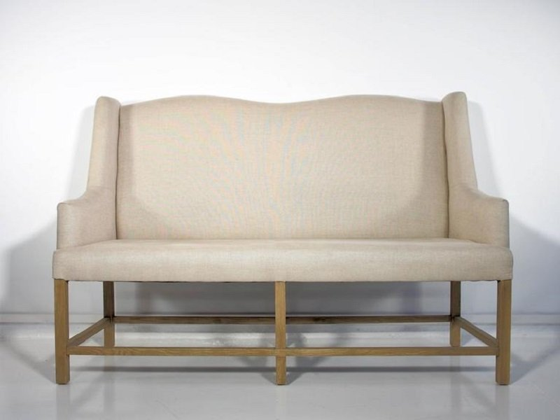 canap vintage dossier haut avec cadre en bois en vente sur pamono. Black Bedroom Furniture Sets. Home Design Ideas