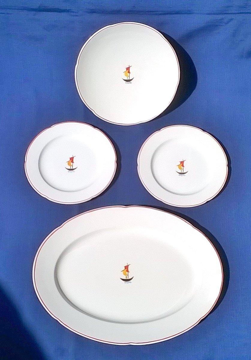Set di piatti in ceramica di Gio Ponti per Richard Ginori, 1936, set ...
