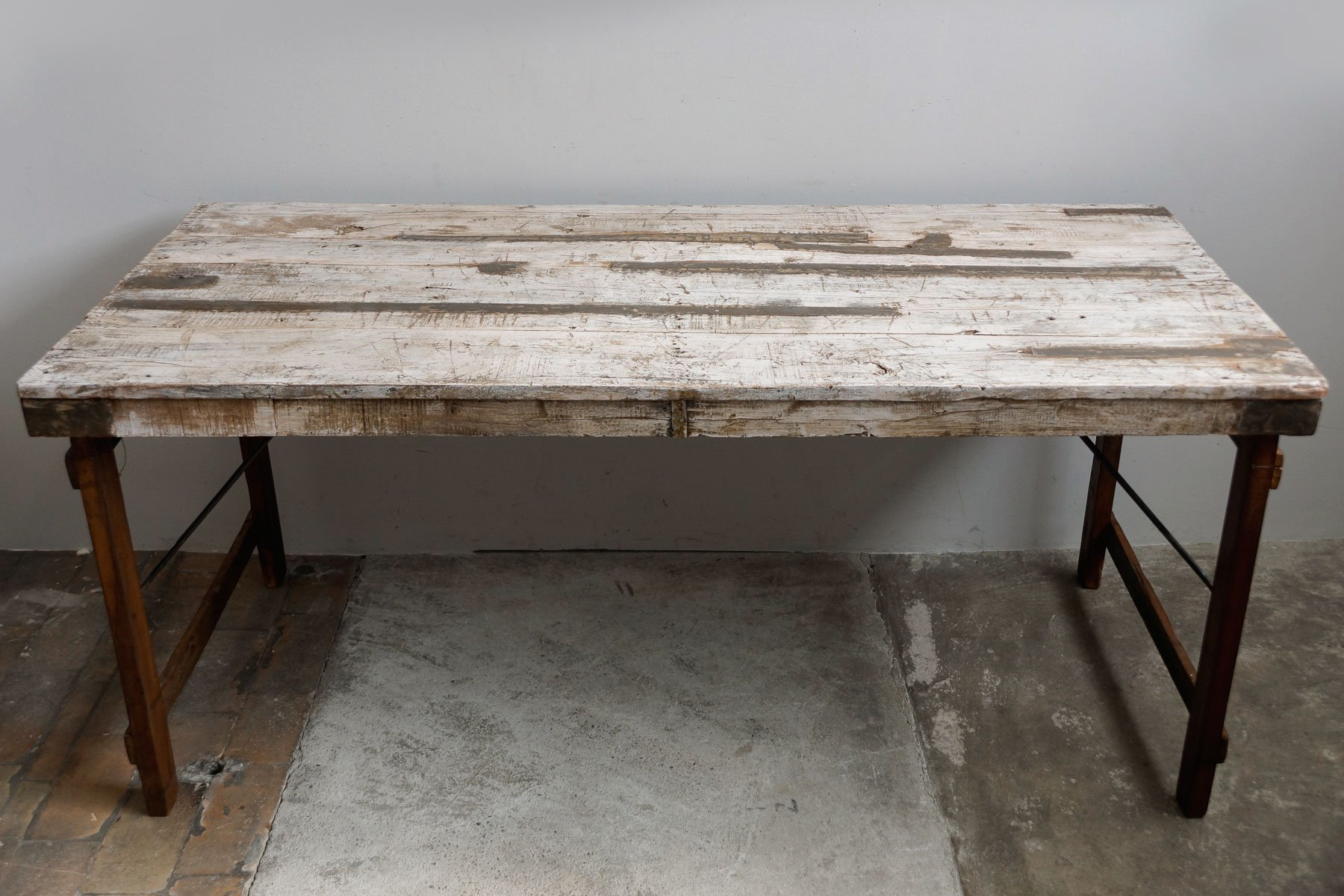 Vintage Indian Teak Foldable Dining Table 1950s for sale at Pamono
