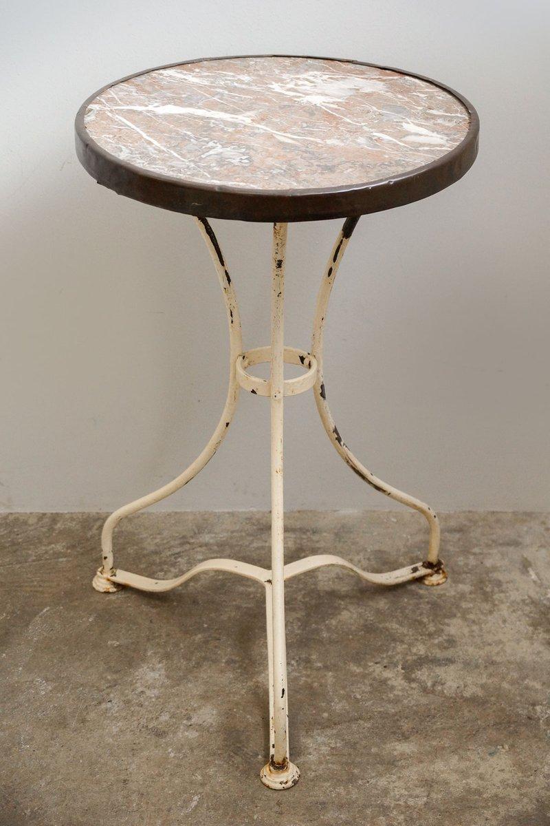 Table de bistrot antique avec plateau en marbre 1890s en - Table de bistrot marbre ...