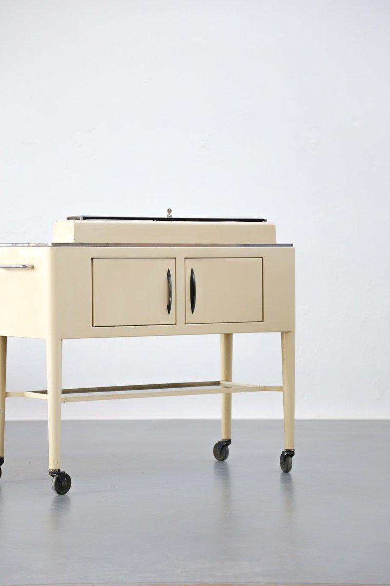 zahnarzt kommode aus eisen glas 1950er bei pamono kaufen. Black Bedroom Furniture Sets. Home Design Ideas