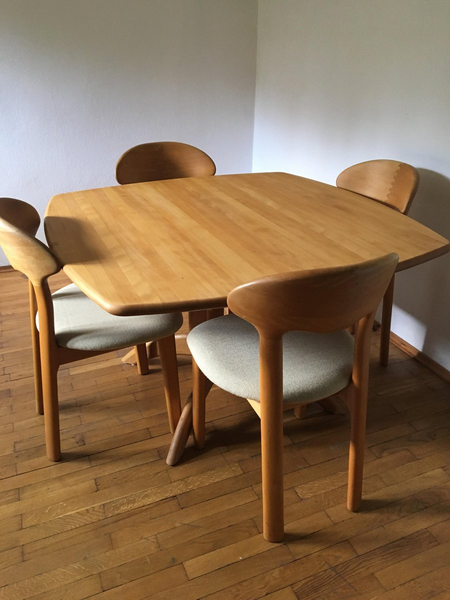 Mid Century Dining Table U0026 Four Chairs From Juul Kristensen