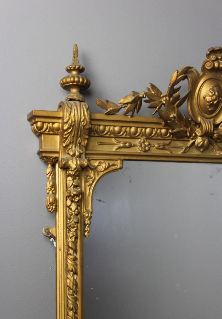 Antique Ornate Gilt Girandole Mirror For Sale At Pamono