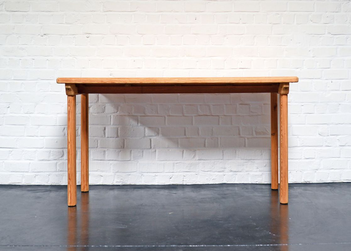 Vintage Solid Pine Dining Table By Carl Malmsten 3. Previous
