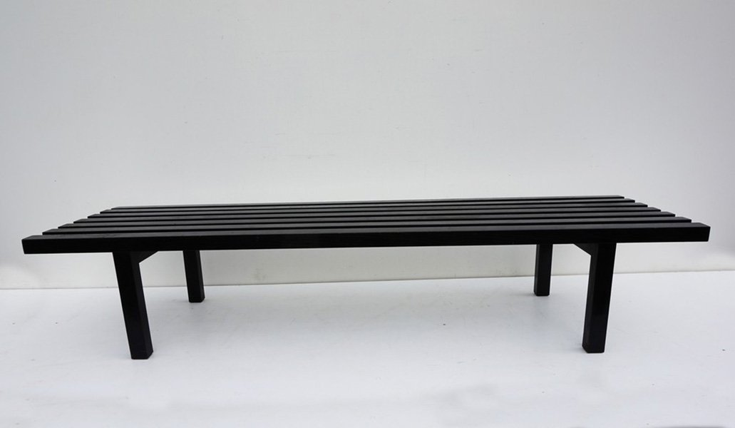 slat modernist sleek file chrome product page sunbeam vintage bench