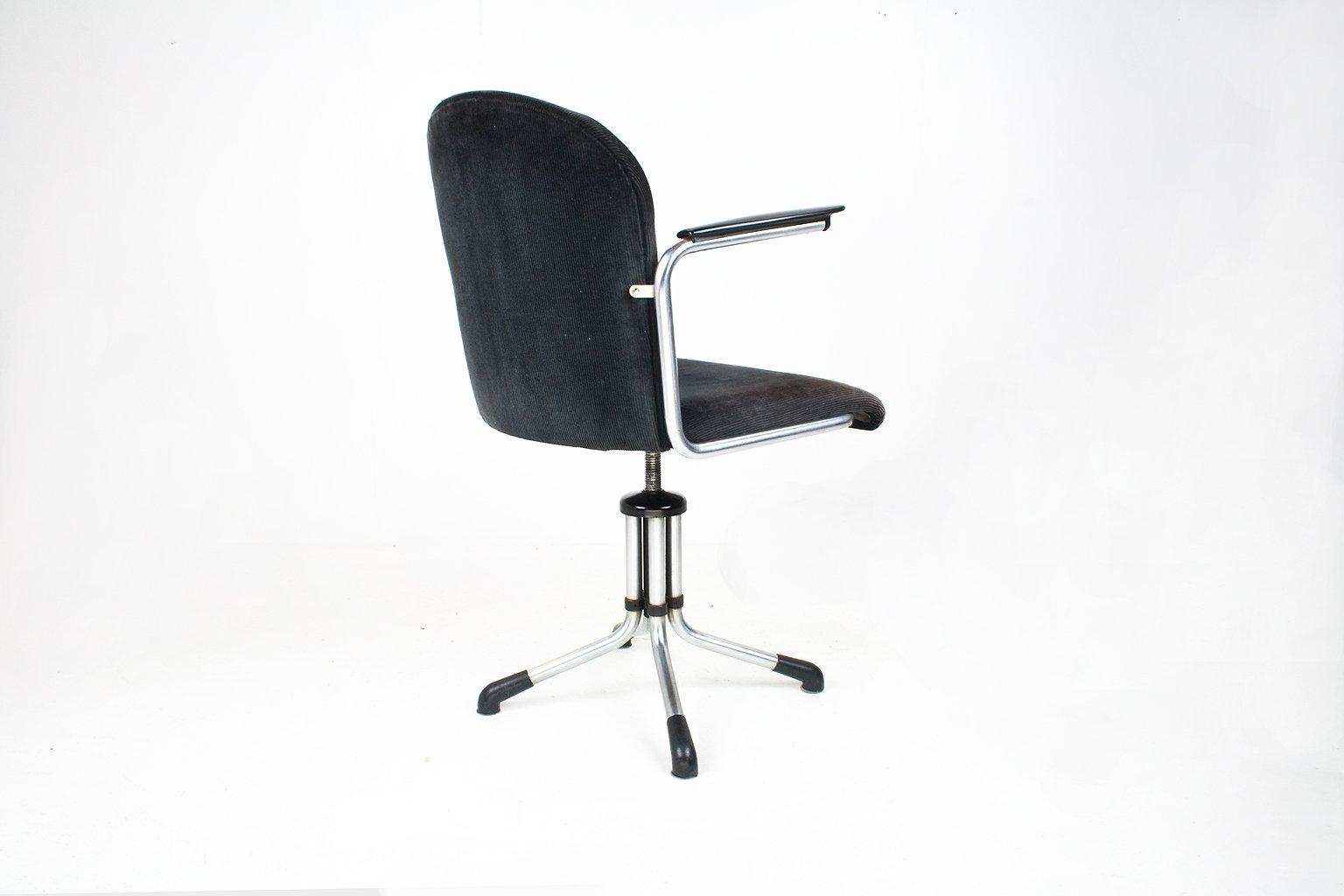 industrieller niederl ndischer modell 356 schreibtisch stuhl von willem gispen f r gispen. Black Bedroom Furniture Sets. Home Design Ideas