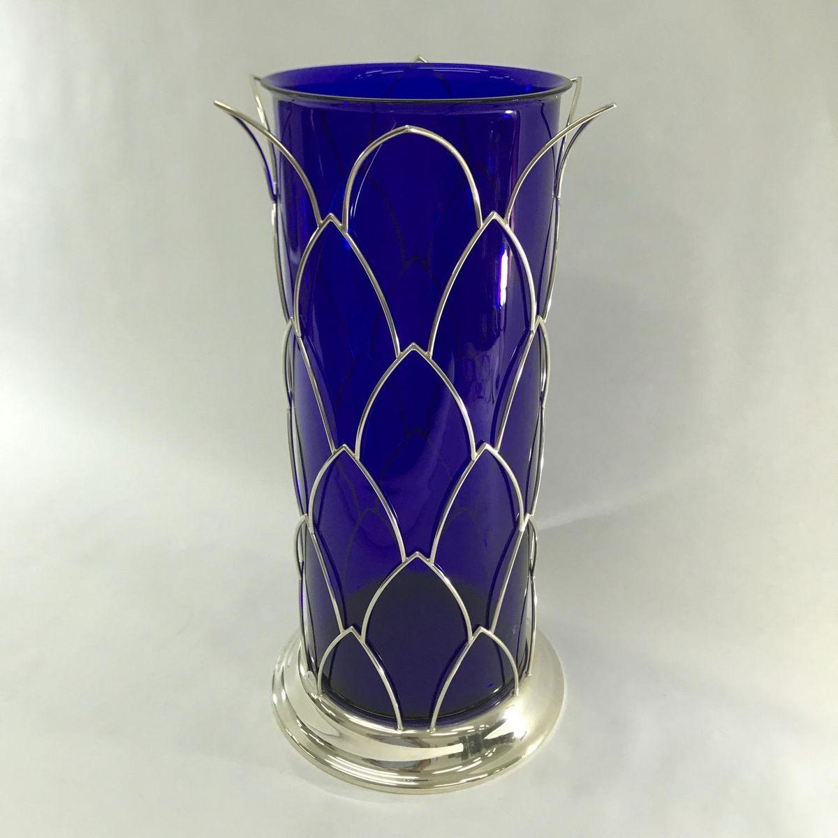 Vintage italian blue murano glass vase from cleto munari 1980s vintage italian blue murano glass vase from cleto munari 1980s floridaeventfo Image collections