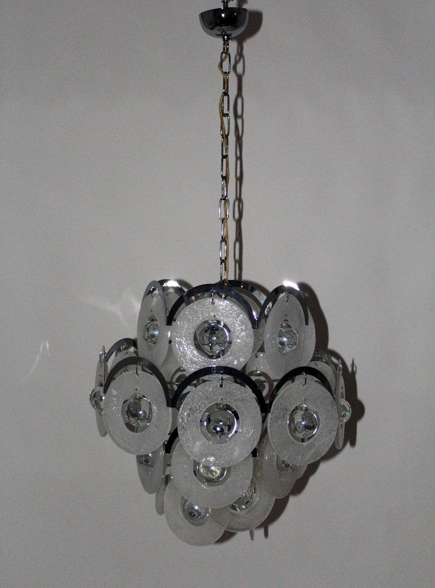 chandelier vintage en verre de murano de vistosi 1960s en vente sur pamono. Black Bedroom Furniture Sets. Home Design Ideas