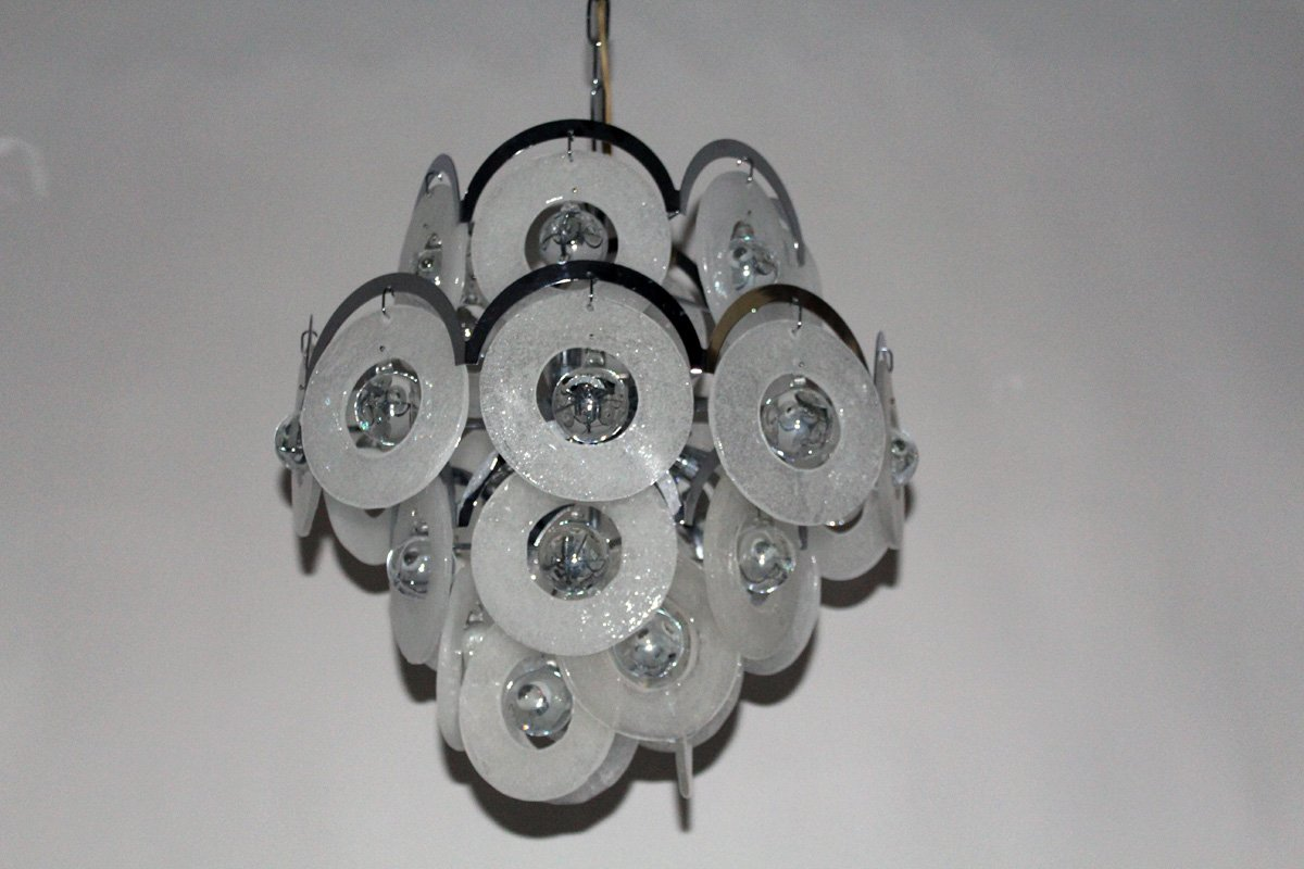 at from sale chandelier glass vintage vistosi chandeliers murano for pamono