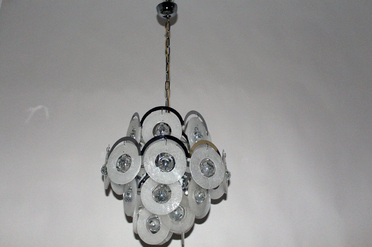 Vintage murano glass chandelier from vistosi 1960s for sale at pamono vintage murano glass chandelier from vistosi 1960s aloadofball Image collections
