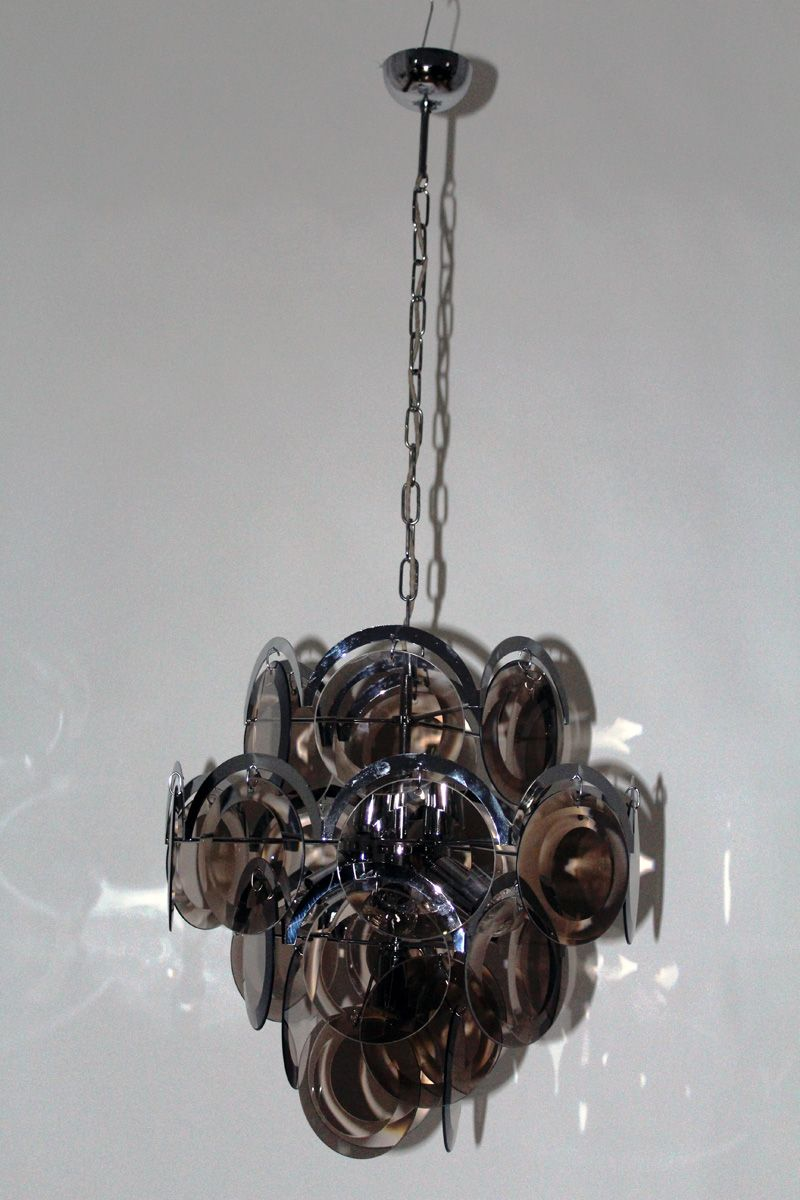 Vintage milanese chandelier from vistosi 1960s for sale at pamono vintage milanese chandelier from vistosi 1960s aloadofball Image collections