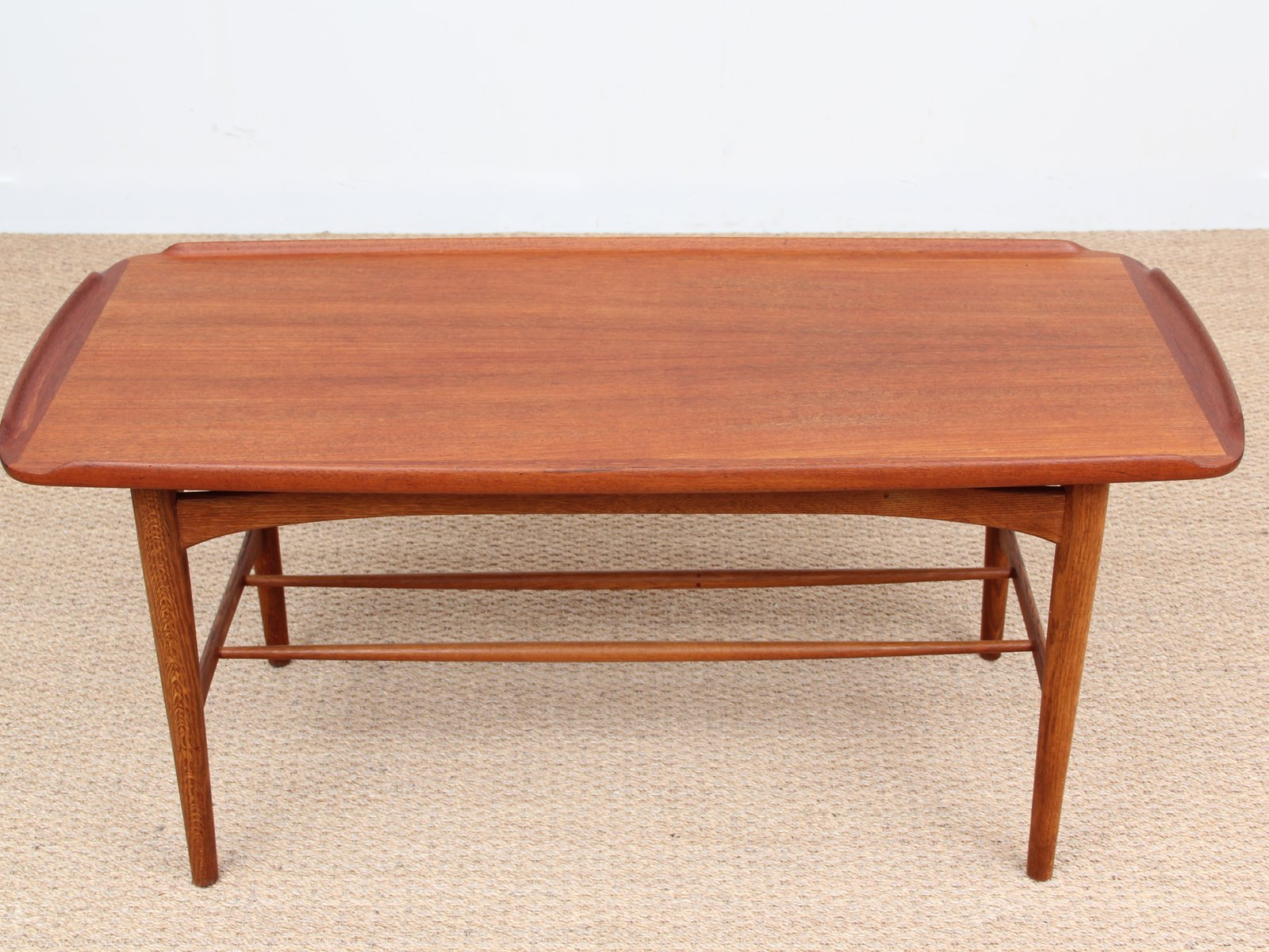 Mid Century Coffee Table in Teak 1950s for sale at Pamono