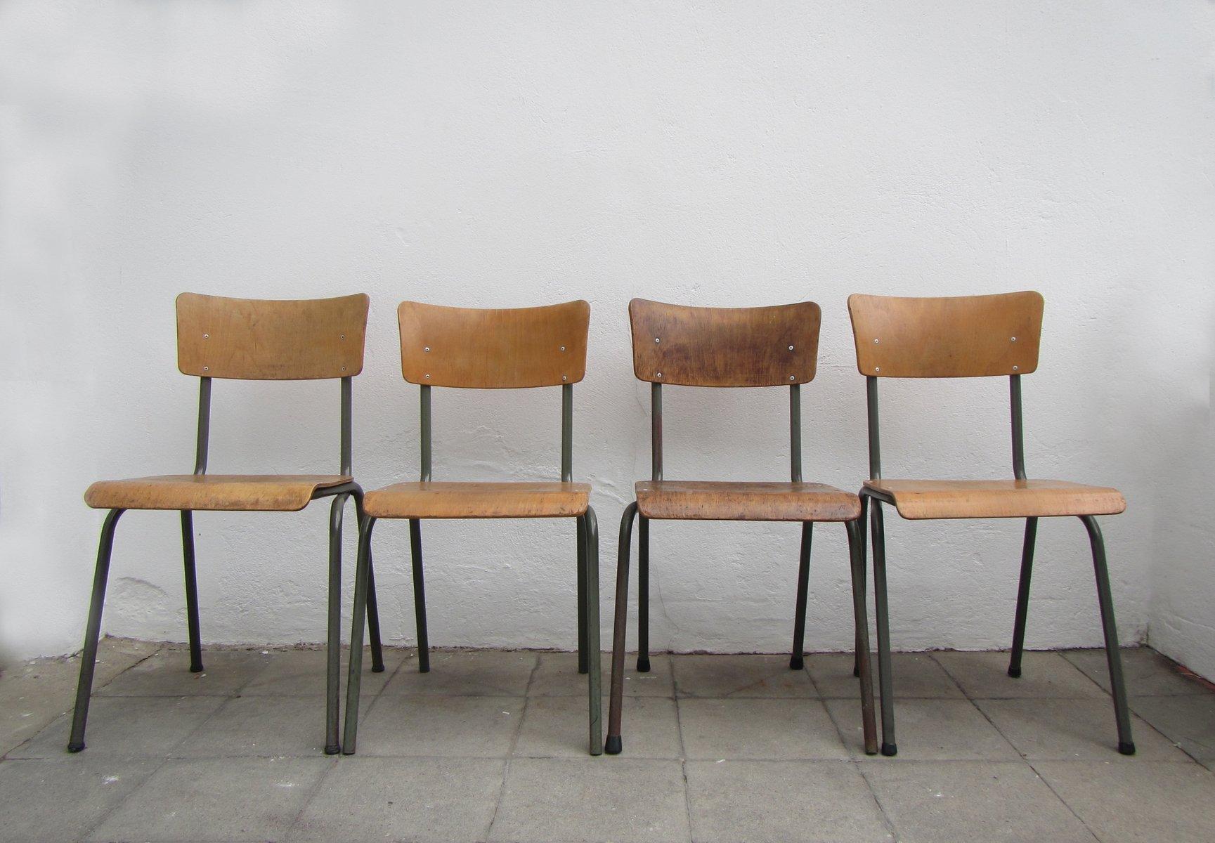 belgische industrielle st hle 1960er 4er set bei pamono kaufen. Black Bedroom Furniture Sets. Home Design Ideas