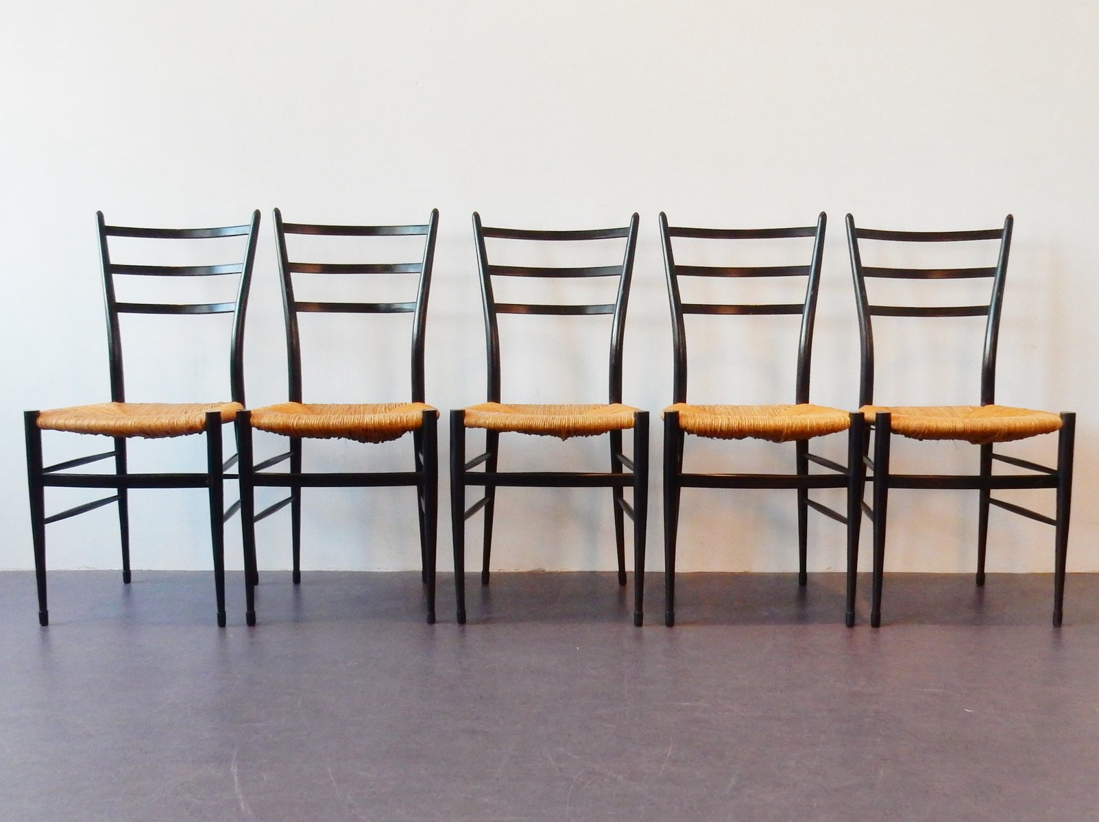 Italian Spinetto Chiavari Dining Chairs 1950s Set Of 5 For Sale At Pamono