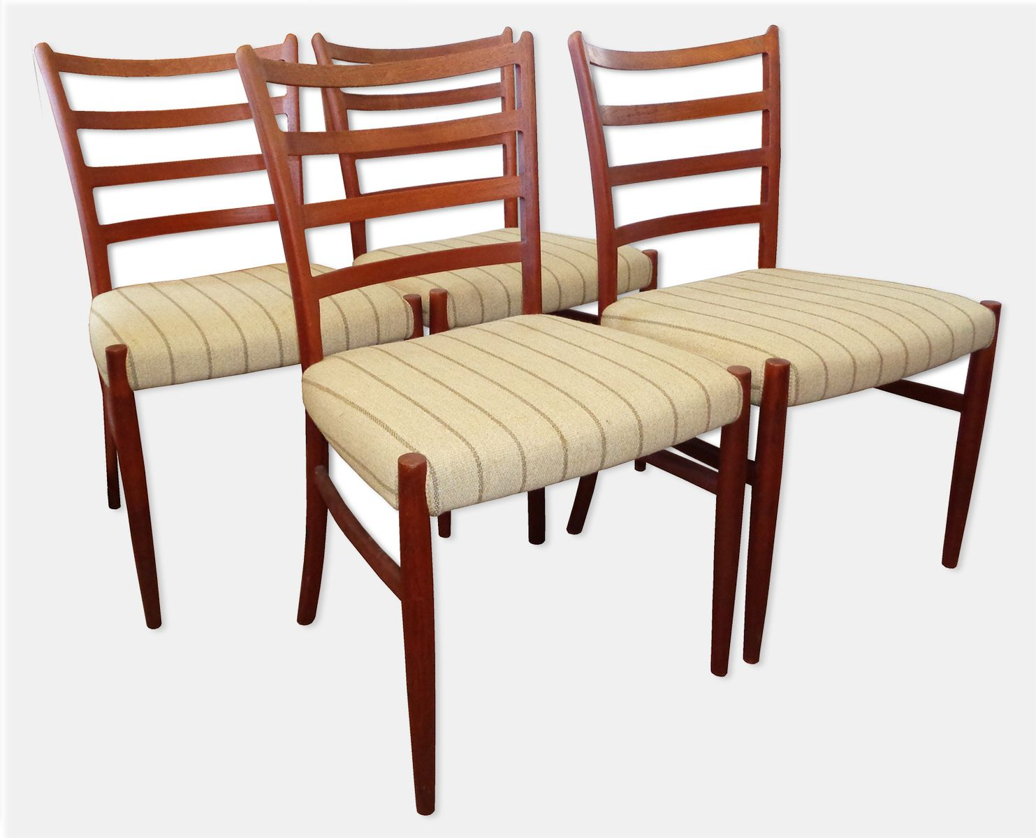 Vintage Teak Dining Chairs By Johannes Andersen For Sva
