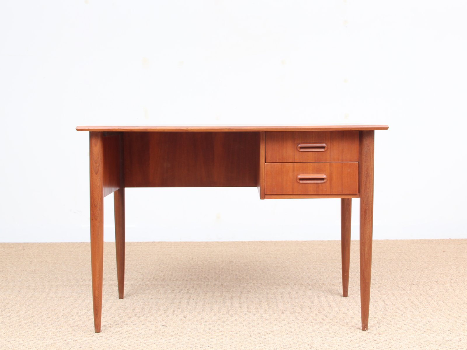 mid century small desk in teak 1950s for sale at pamono