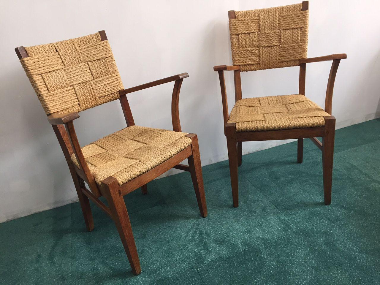 vintage st hle von audoux minet 2er set bei pamono kaufen. Black Bedroom Furniture Sets. Home Design Ideas