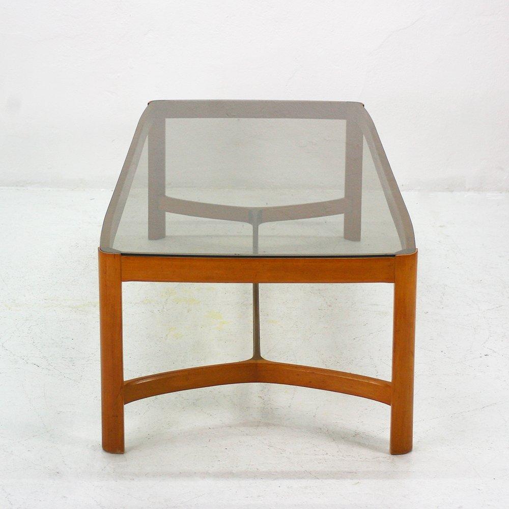 couchtisch aus kirschholz rauchglas bei pamono kaufen. Black Bedroom Furniture Sets. Home Design Ideas