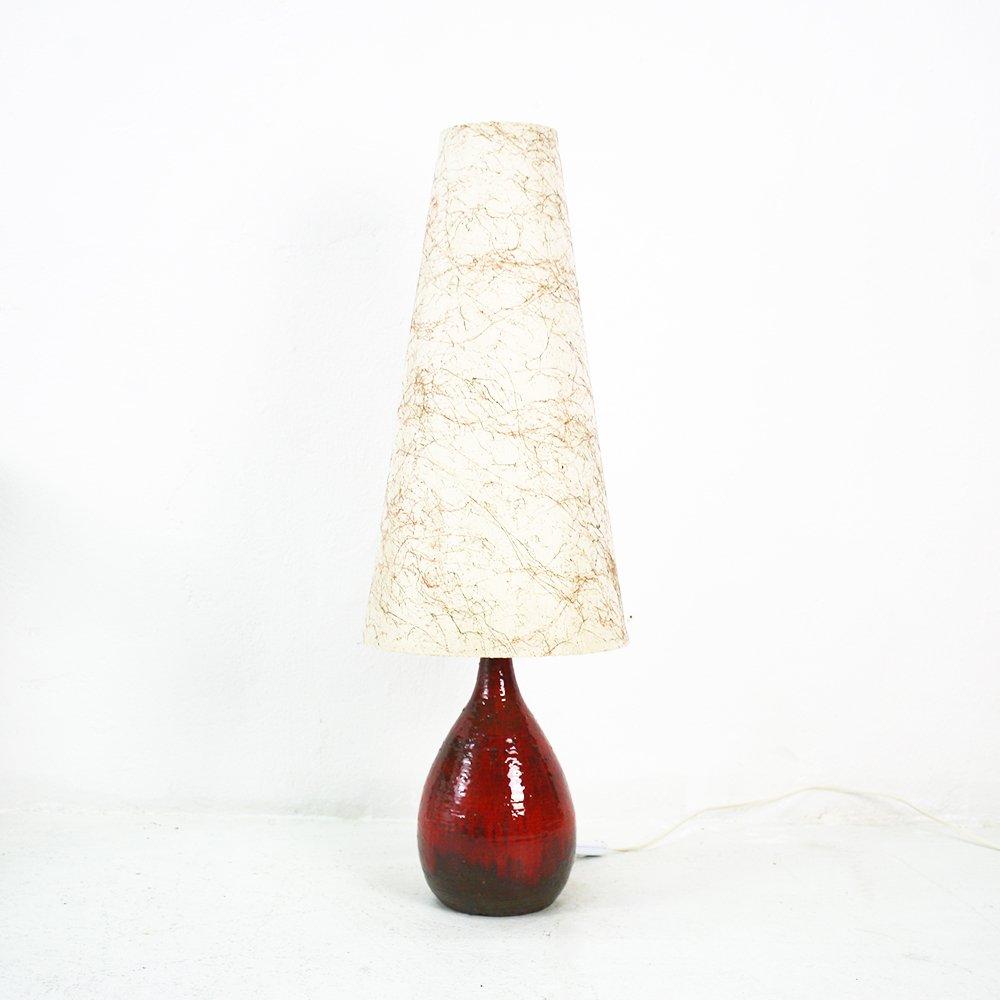 gro e tischlampe mit fat lava gestell 1960er bei pamono kaufen. Black Bedroom Furniture Sets. Home Design Ideas