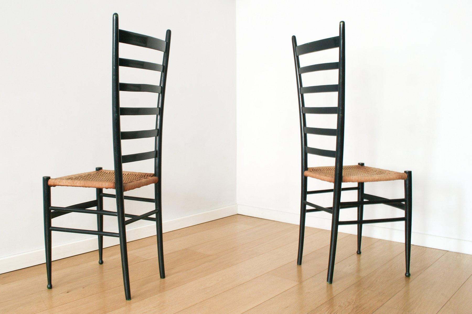 Italian Chiavari Ladderback Chairs, 1950s, Set Of 2 For Sale At Pamono