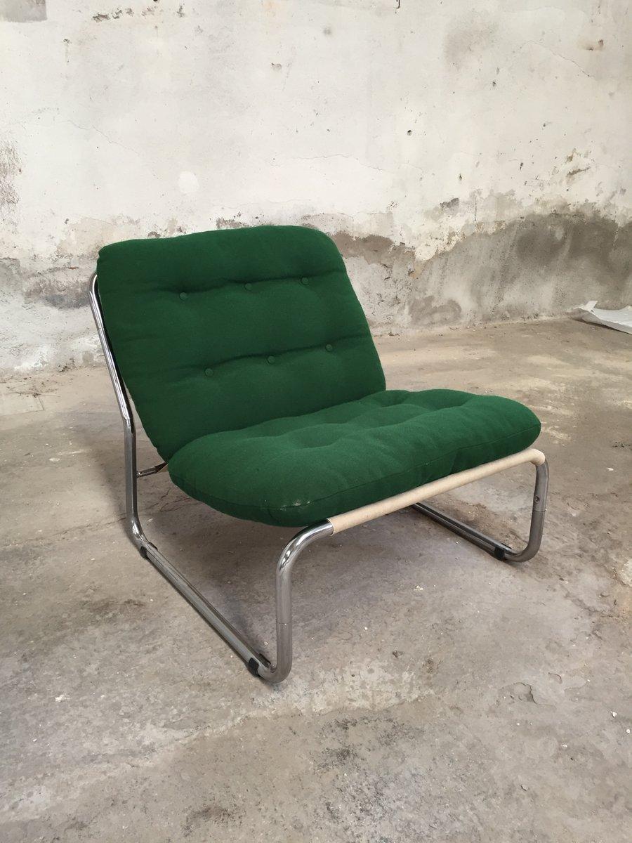 italienische sessel aus chrom stoff 1970er 6er set bei pamono kaufen. Black Bedroom Furniture Sets. Home Design Ideas