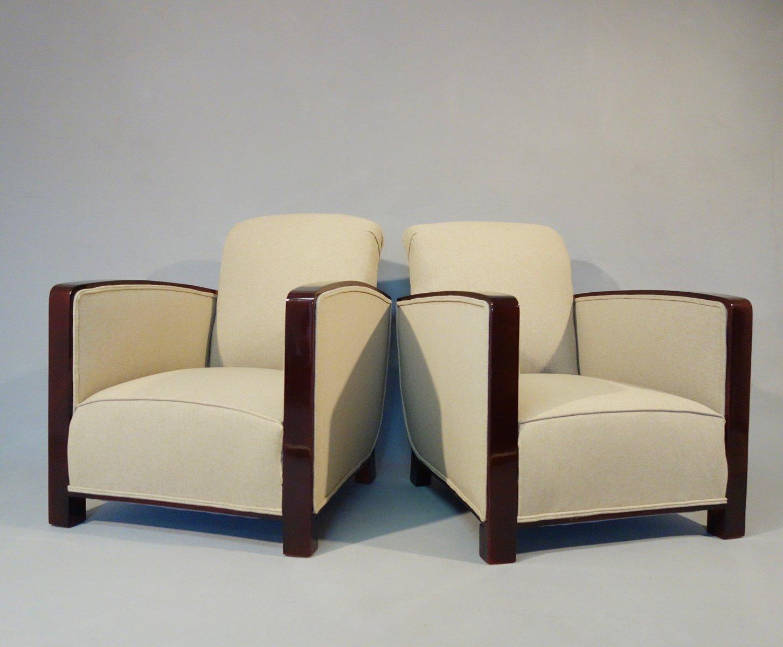 art deco sessel 2er set bei pamono kaufen. Black Bedroom Furniture Sets. Home Design Ideas