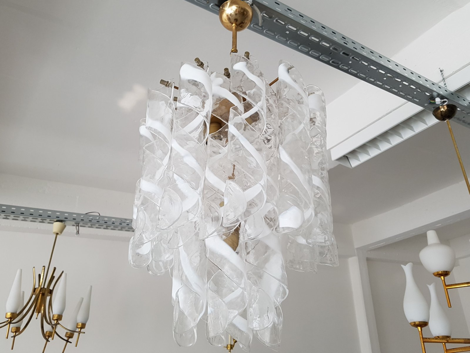 Murano Glass Chandelier from Mazzega 1960s for sale at Pamono