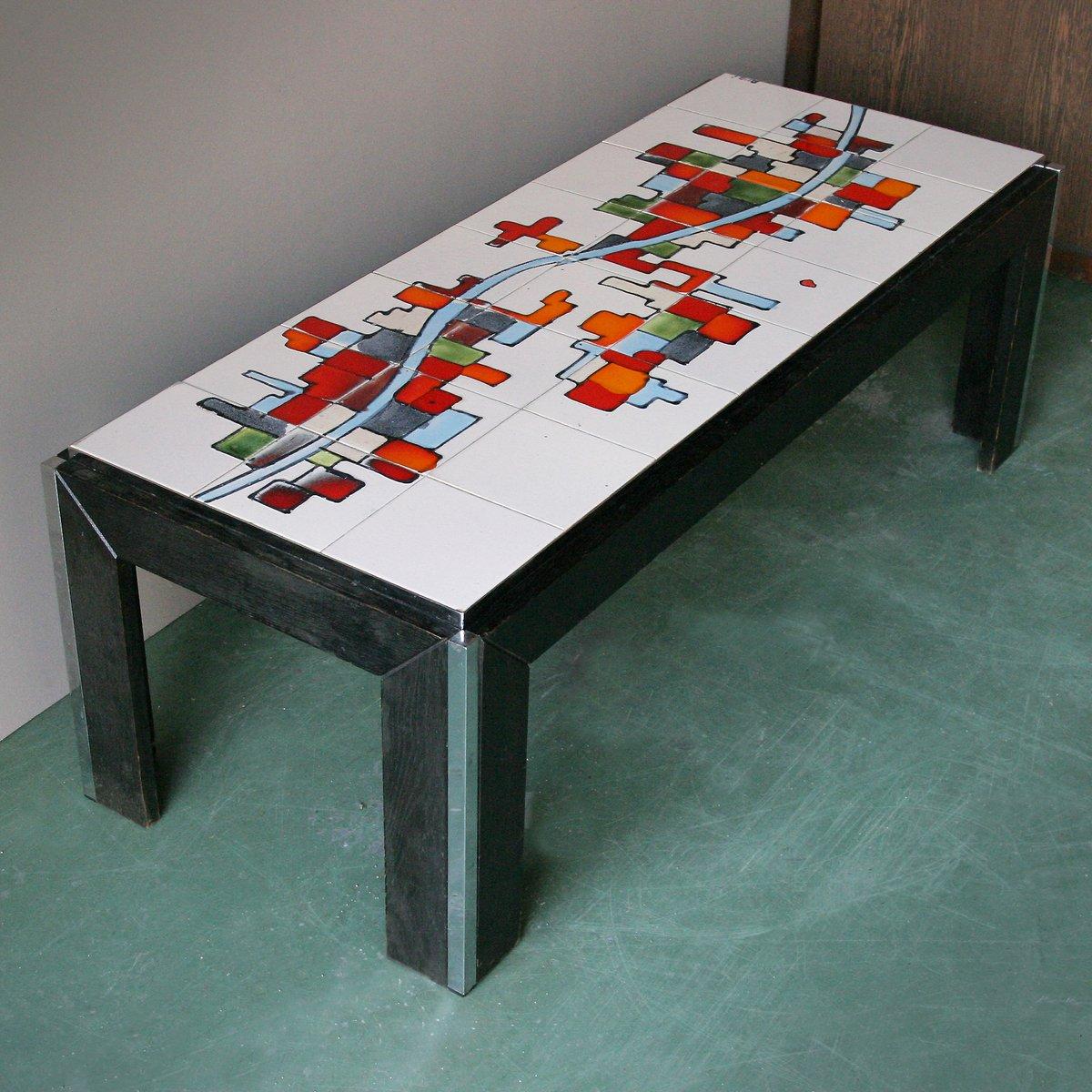 table basse avec plateau de c ramique d adri belgique en. Black Bedroom Furniture Sets. Home Design Ideas