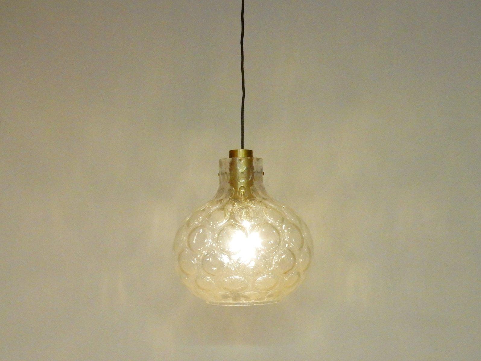 Vintage thick glass pendant light by glashtte limburg 1960s for vintage thick glass pendant light by glashtte limburg 1960s mozeypictures Choice Image