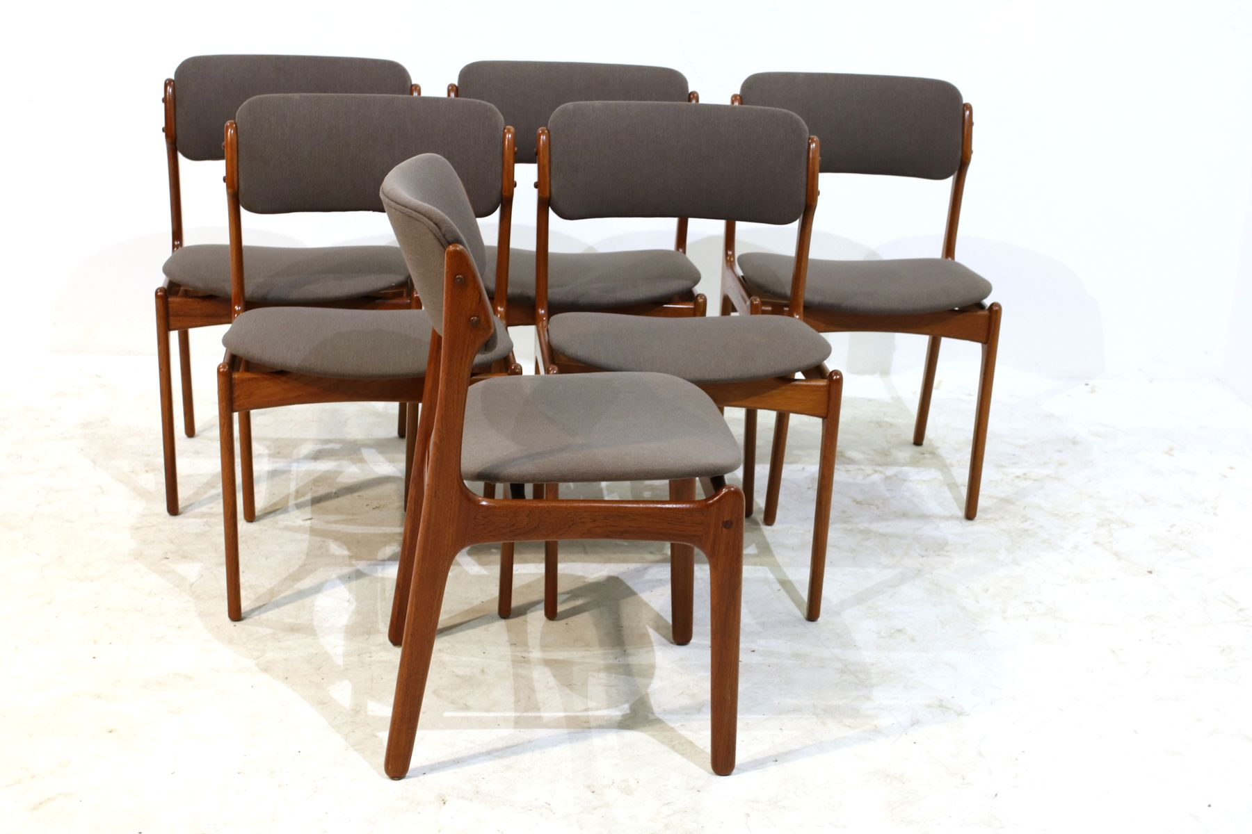 Teak Dining Chairs by Erik Buch for Oddense Maskinsnedkeri A S