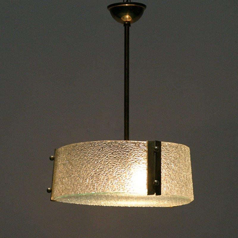 franz sische vintage h ngelampen aus geformtem glas bei pamono kaufen. Black Bedroom Furniture Sets. Home Design Ideas