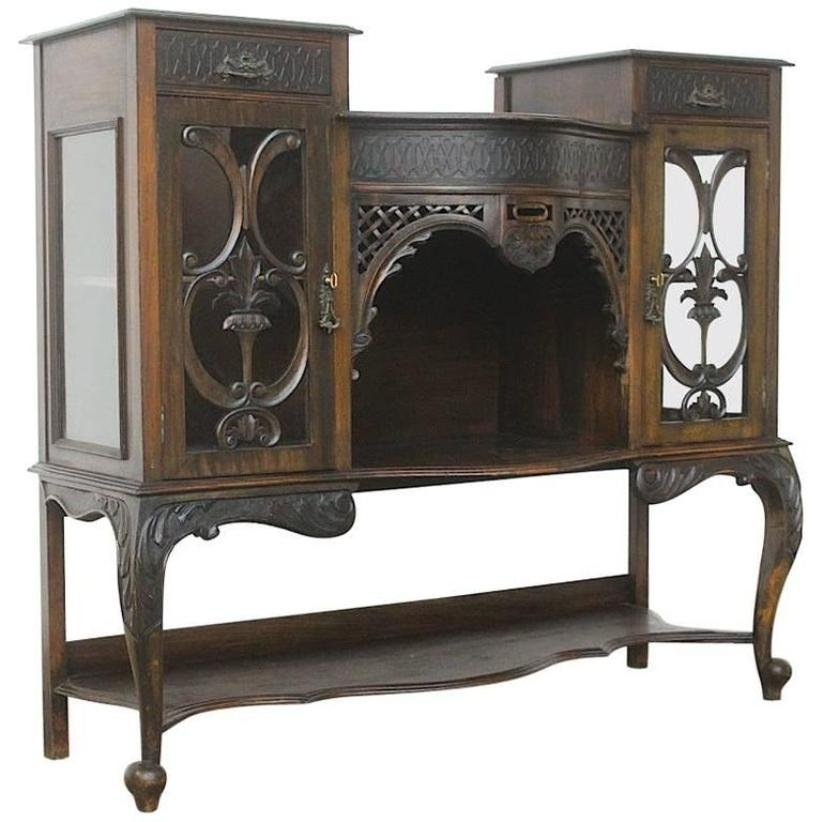 vintage french art nouveau buffet for sale at pamono. Black Bedroom Furniture Sets. Home Design Ideas