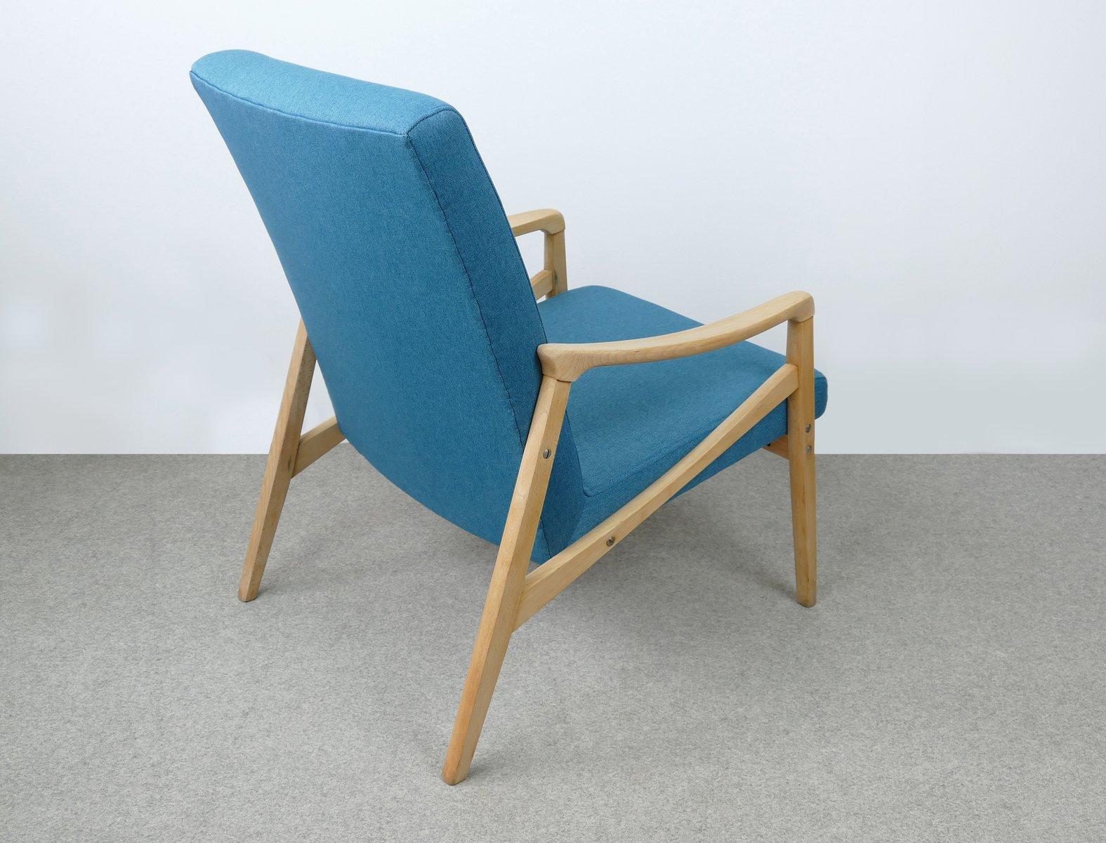 blauer tschechischer mid century sessel 1960er bei pamono kaufen. Black Bedroom Furniture Sets. Home Design Ideas