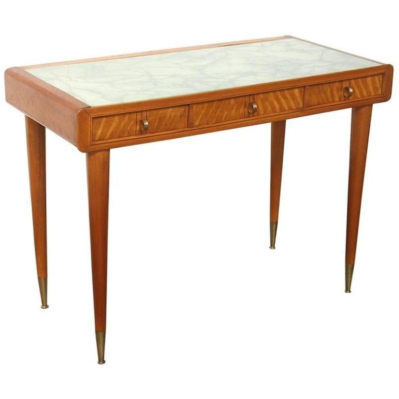 bureau pour femme avec incrustations de carlo de carli 1940s en vente sur pamono. Black Bedroom Furniture Sets. Home Design Ideas