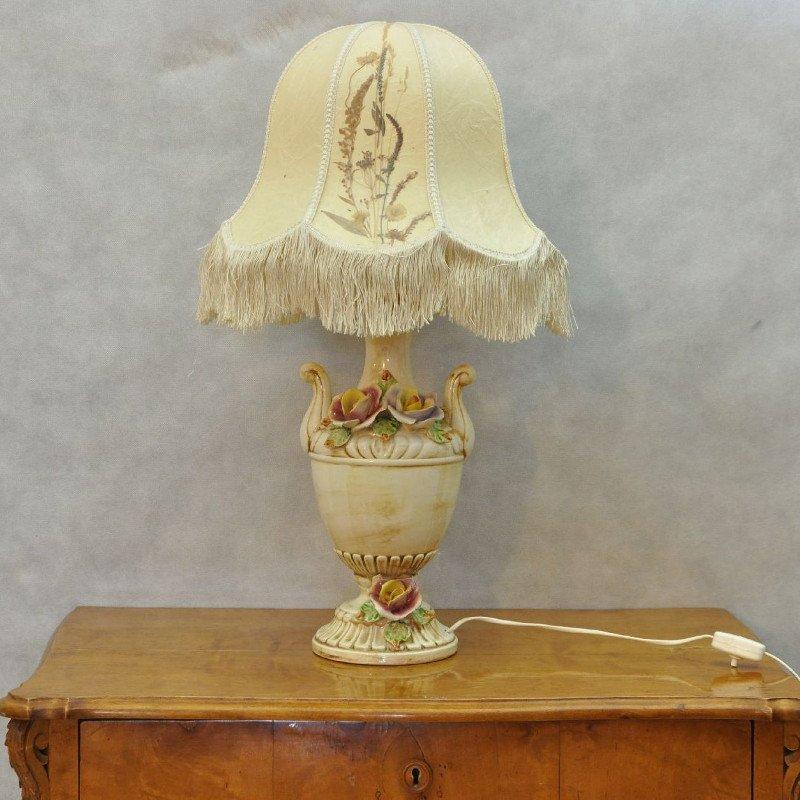 italienische vintage lampe aus porzellan bei pamono kaufen. Black Bedroom Furniture Sets. Home Design Ideas