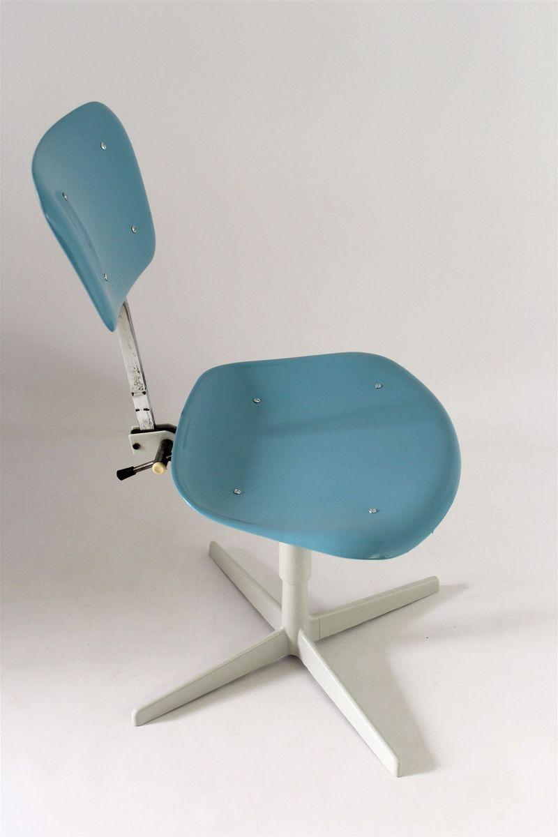 Industrieller stuhl aus stahl plastik 1970er bei pamono for Design stuhl plastik